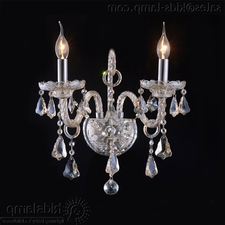 Crystal Glass Transparent Chandelier Wall Lights (View 5 of 10)
