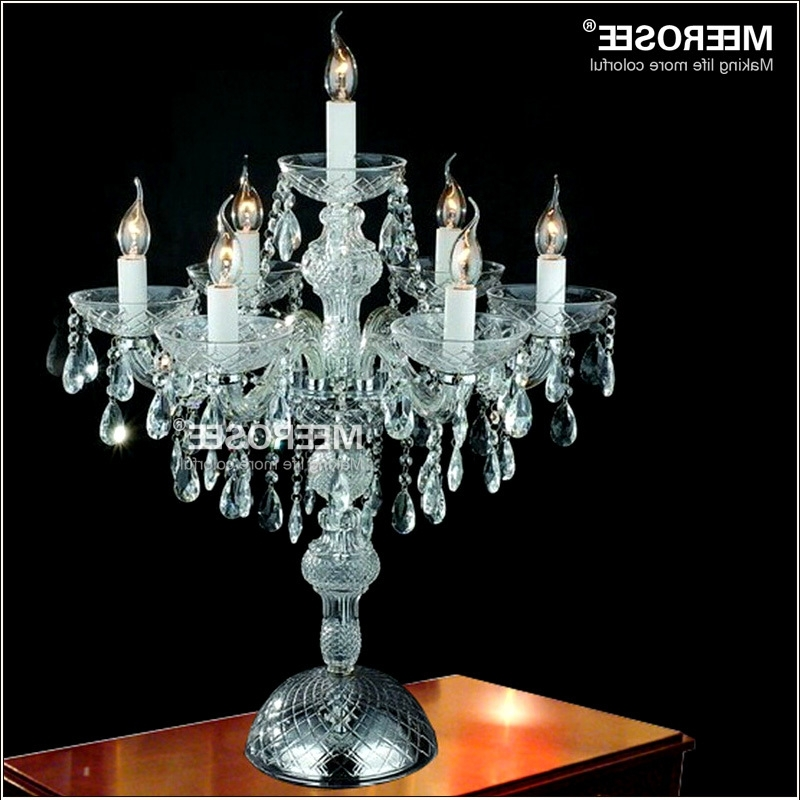 Crystal Table Chandeliers With Regard To Current Wholesale Crystal Table Top Chandelier Candelabra Wedding Decoration (View 3 of 10)