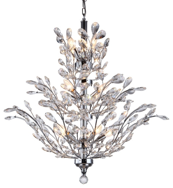 Crystal Tree Branch Chandelier Light Chrome 12 Swarovski Pertaining To Widely Used Crystal Branch Chandelier (View 6 of 10)