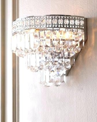Crystal Wall Sconce Lighting Incredible Bathroom Sconce Modern Wall Inside Most Popular Bathroom Chandelier Wall Lights (View 3 of 10)