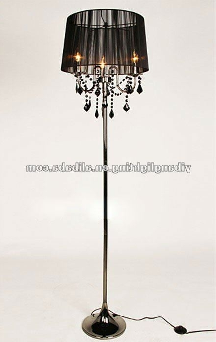 Current Black Chandelier Standing Lamps Throughout Chandelier Floor Lamp Jeffreypeak For Attractive House Standing (View 2 of 10)
