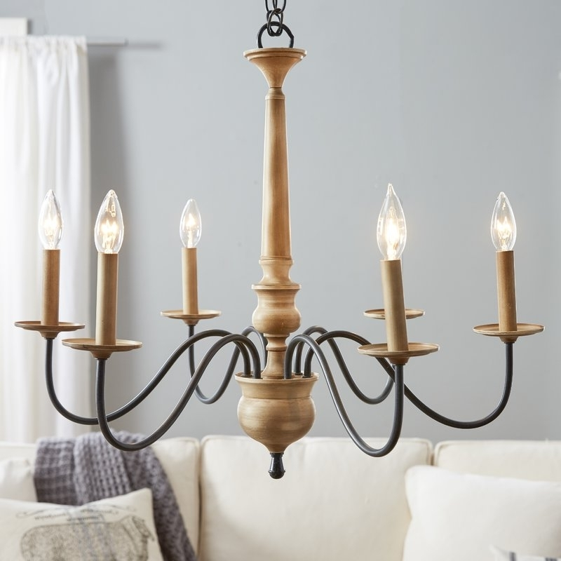 Current Candle Light Chandelier Regarding Birch Lane™ Edson 6 Light Candle Style Chandelier & Reviews (View 5 of 10)