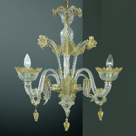 "Current Casanova"" Small Murano Chandelier With Rings – Murano Glass Chandeliers Pertaining To Small Glass Chandeliers (View 1 of 10)"