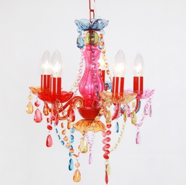 Current Chandeliers For Kids Throughout Modern Fashion Multicolor/pink Chandelier Kids Lighting For Bedroom (View 7 of 10)