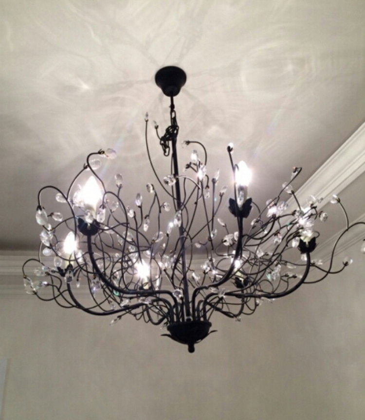 Current D74Cm Nordico K9 Retro Branches Crystal Chandelier 6 Lights Bedroom For Branch Crystal Chandelier (View 5 of 10)