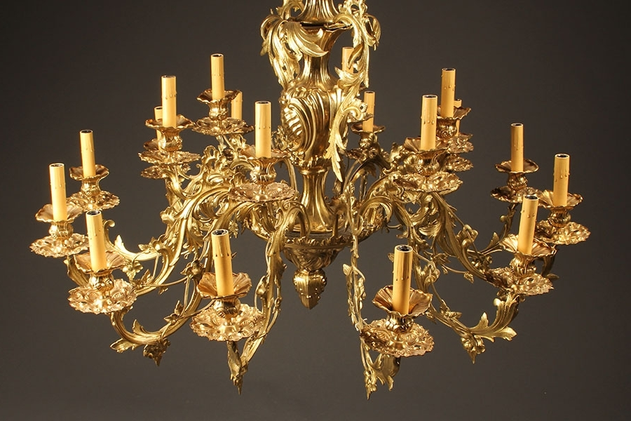 Current French Bronze Chandelier Regarding Antique Bronze Chandelier French Antique Chandelier 18 Arm French (View 5 of 10)
