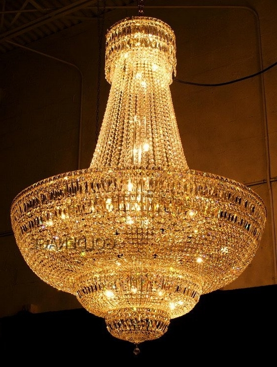 Current How To Install A Chandelier – Lightingparadise, Miami With Regard To Crystal Gold Chandeliers (View 2 of 10)