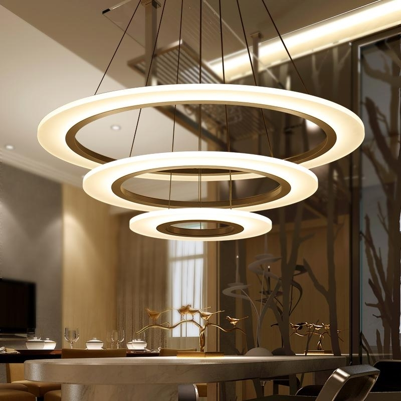 Current Luxury Modern Chandelier Led Circle Chandelier Lights Round Acrylic Within Modern Chandelier Lighting (View 1 of 10)