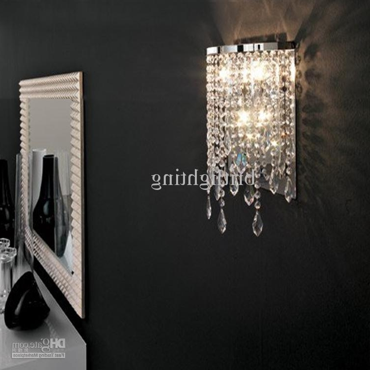 Current Modern Crystal Wall Lamp Mirror Light Bathroom Contemporary Wall For Bathroom Chandelier Wall Lights (View 4 of 10)
