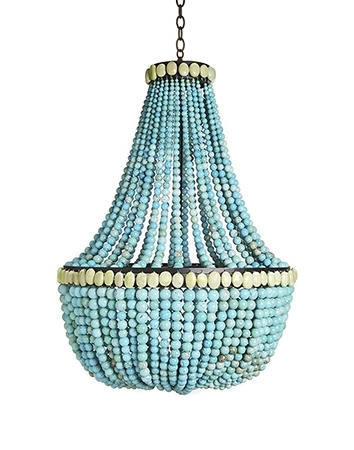 Current Turquoise Wood Bead Chandeliers With Regard To Wood Bead Chandelier. Waterloo Wood Beaded Chandelier Polyvore With (Gallery 3 of 10)