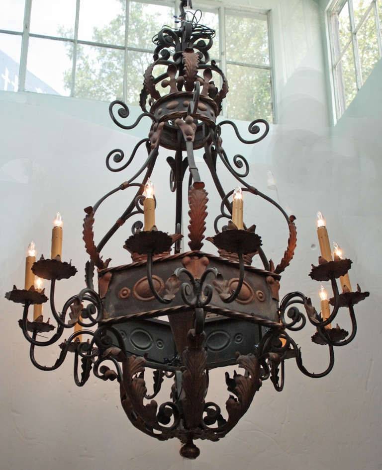 Current Wrought Iron Chandelier With Regard To Large Wrought Iron Chandelier (View 10 of 10)