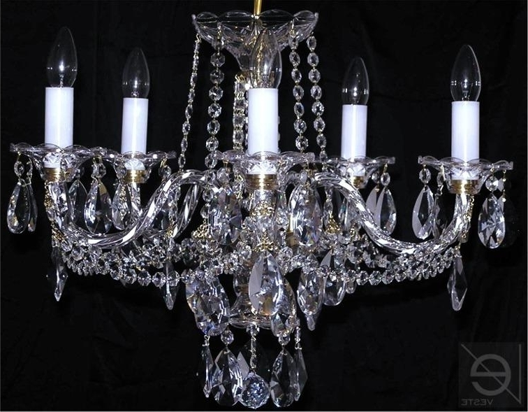 Czech Crystal Chandelier 5 Arms Lead Crystal Glass , Www (View 2 of 10)