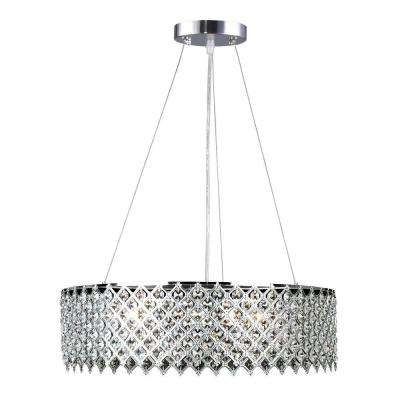 Decor Living – Crystal – Chandeliers – Lighting – The Home Depot Regarding Most Recently Released Crystal Chrome Chandelier (View 5 of 10)