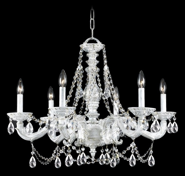 Decorate Your Placeusing White Chandelier – Designinyou In Current White Chandeliers (View 2 of 10)