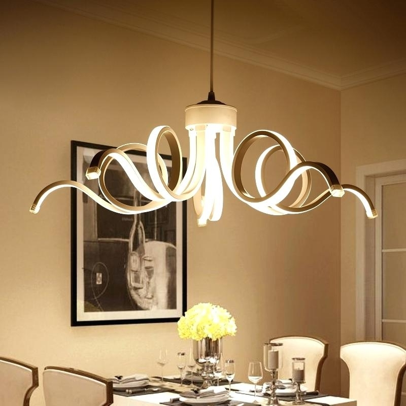 Dining Room Contemporary Chandelier Lighting : Contemporary Regarding Most Current Contemporary Chandelier (View 6 of 10)