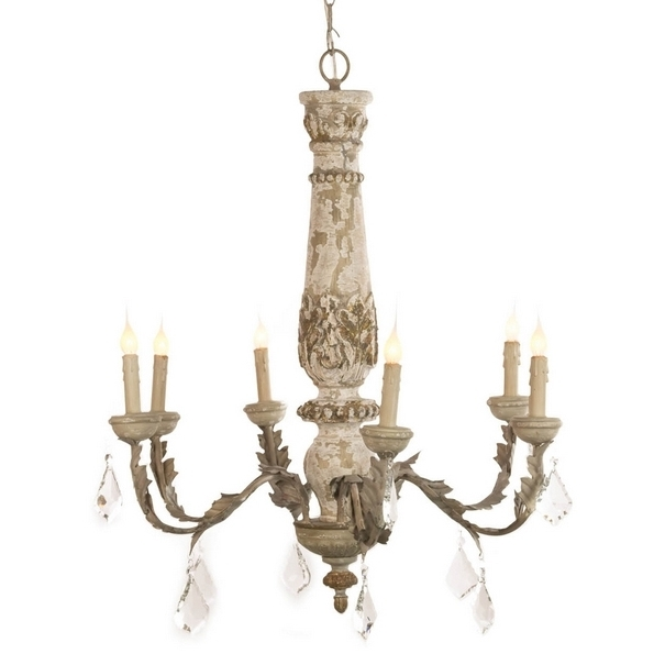 Distressed White Crystal French Chandelier – Shabby Chandeliers For Newest French Chandeliers (View 3 of 10)