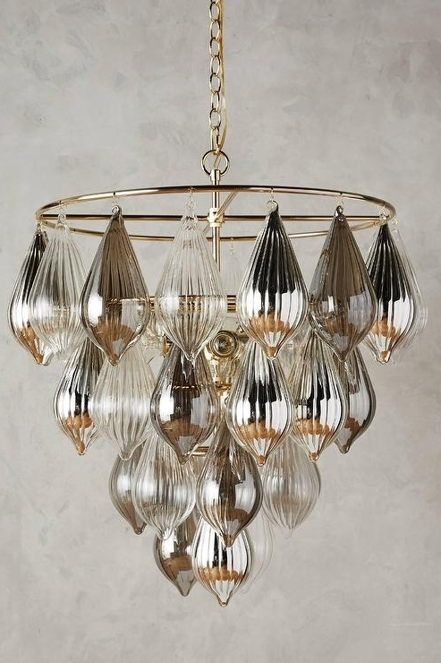 Droplet Chandelier With Regard To Popular Glass Droplet Chandelier (View 1 of 10)