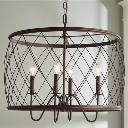 Drum Chandelier, Drums And Chandeliers Inside Fashionable Cage Chandeliers (View 6 of 10)
