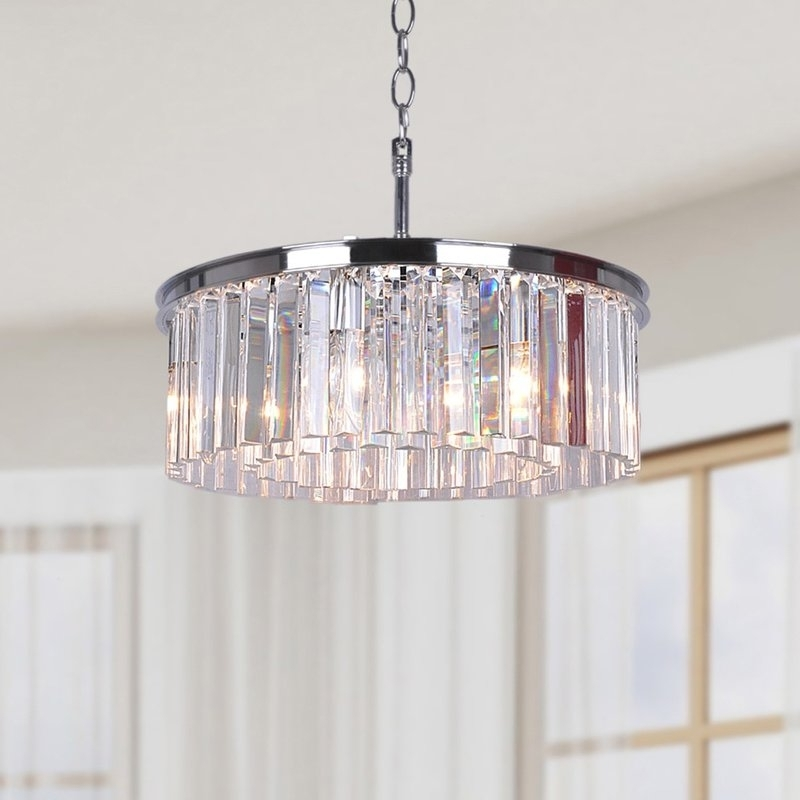 Drum Chandeliers Lighting The Home Depot With Chandelier Crystals With Well Known Wayfair Chandeliers (View 9 of 10)