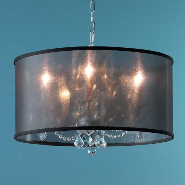 Drum Lamp Shades For Chandeliers Intended For Well Known Drum Lamp Shade Chandelier Shades For Chandeliers The Aquaria (View 4 of 10)