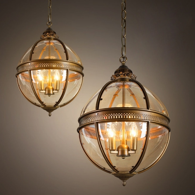 Ecolight Vintage Globe Chandeliers 3 Lights E12 E14 Transparent With Well Known Globe Chandeliers (View 2 of 10)