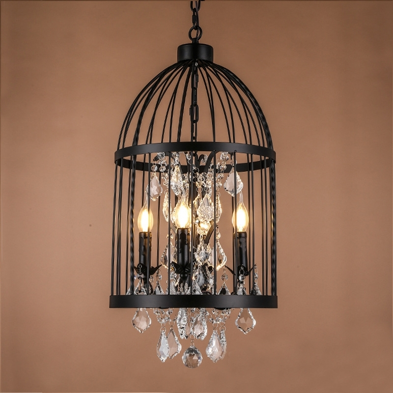 Europe Antique Rust Wrought Iron Cage Chandeliers For Hallway Entry Throughout Well Known Cage Chandeliers (View 7 of 10)
