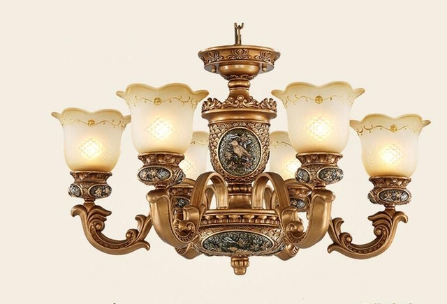 European Style Antique Chandeliers Lamps 6 Lights Bedroom Dining Pertaining To Trendy Antique Chandeliers (Gallery 1 of 10)