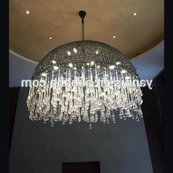 Extra Large Chandelier Lighting Intended For Favorite Drop Crystal Chandelier New Design Extra Large Lobby Rain Drop (View 1 of 10)