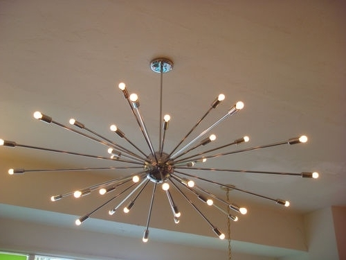 Extra Large Chrome Atomic Sputnik Starburst Light Fixture Large Intended For Most Popular Extra Large Modern Chandeliers (View 2 of 10)