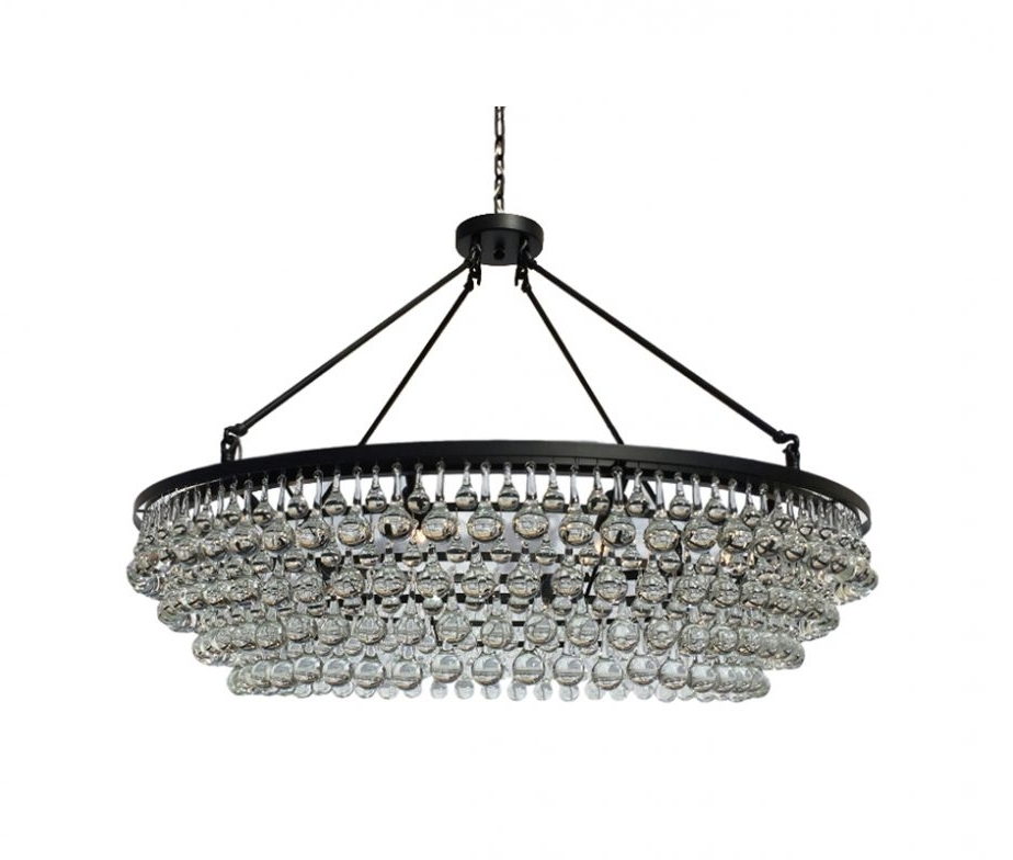 Extra Large Crystal Chandeliers Intended For Well Liked Celeste Extra Large Glass Drop Crystal Chandelier, Black – Light Up (Gallery 5 of 10)
