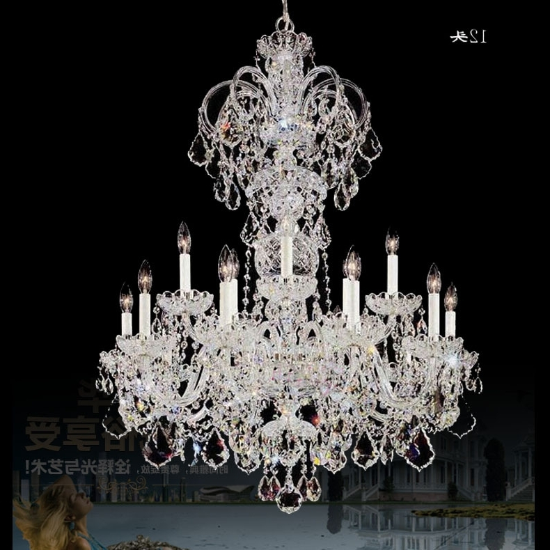 Extra Large Crystal Chandeliers With Regard To Latest Home Design : Alluring Extra Large Crystal Chandeliers Chandelier (View 8 of 10)