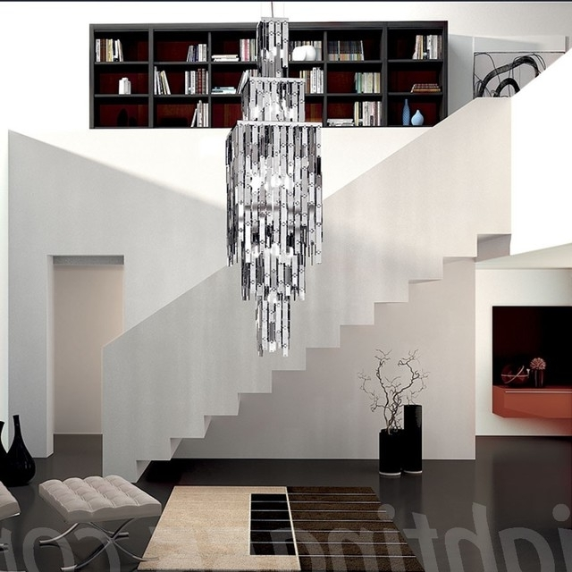 Extra Large Modern Chandeliers Regarding Fashionable Axo Glitter Large Suspension Light Modern Chandeliers For (Gallery 7 of 10)