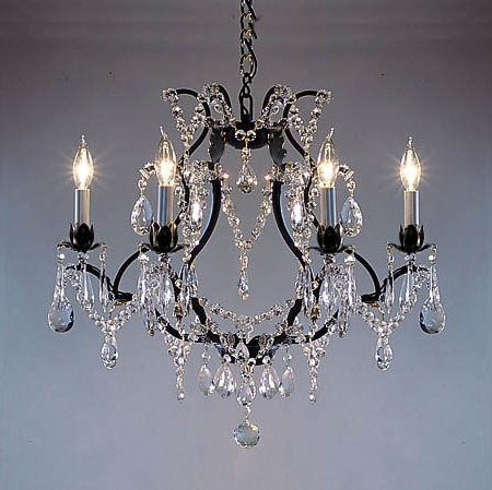 F83 3030 6 Gallery Wrought With Crystal Versailles Collection For Well Liked Cast Iron Chandelier (View 8 of 10)