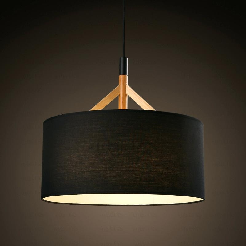 Fabric Drum Shade Chandelier Brief Drum Pendant Light Fabric Shade With Regard To Most Popular Fabric Drum Shade Chandeliers (View 2 of 10)