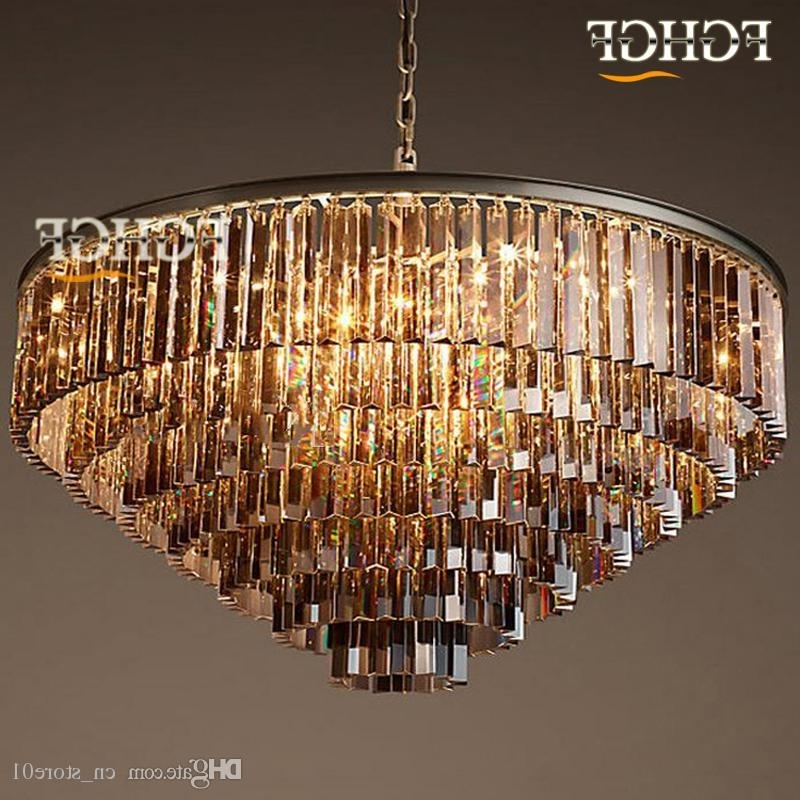 Factory Outlet Modern Vintage Rh Chandelier Crystal Pendant Hanging Pertaining To Best And Newest Chandelier For Restaurant (View 8 of 10)