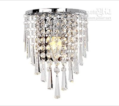 Famous 2018 85 265V Wall Lamp Crystal Chandelier Free With A 3W E14 Led Inside Chandelier Wall Lights (View 6 of 10)