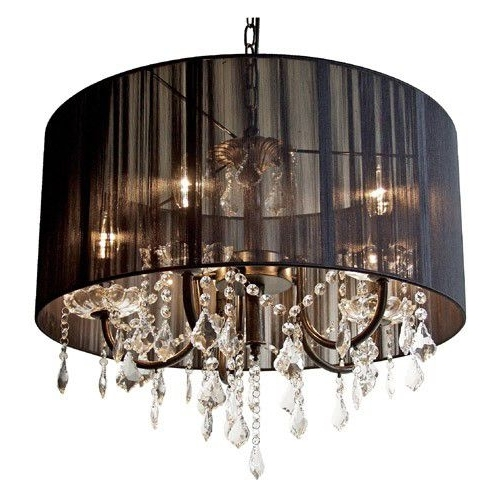 Famous Black And Crystal Clear French Style Lamp Shade (View 2 of 10)