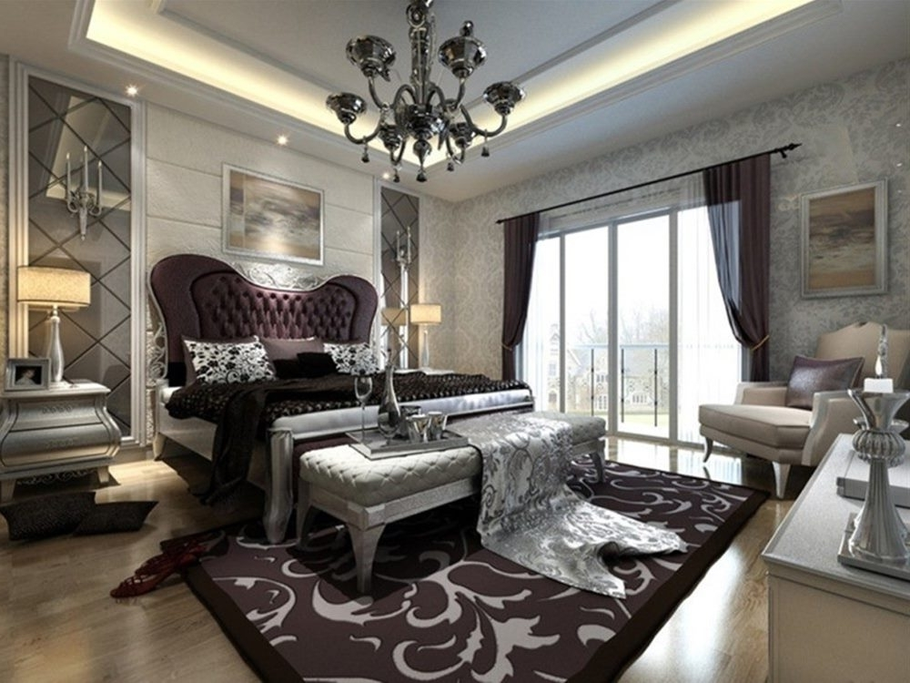 Famous Black Chandelier For Luxury Interior Lighting Idea Within Black Chandelier Bedroom (View 10 of 10)