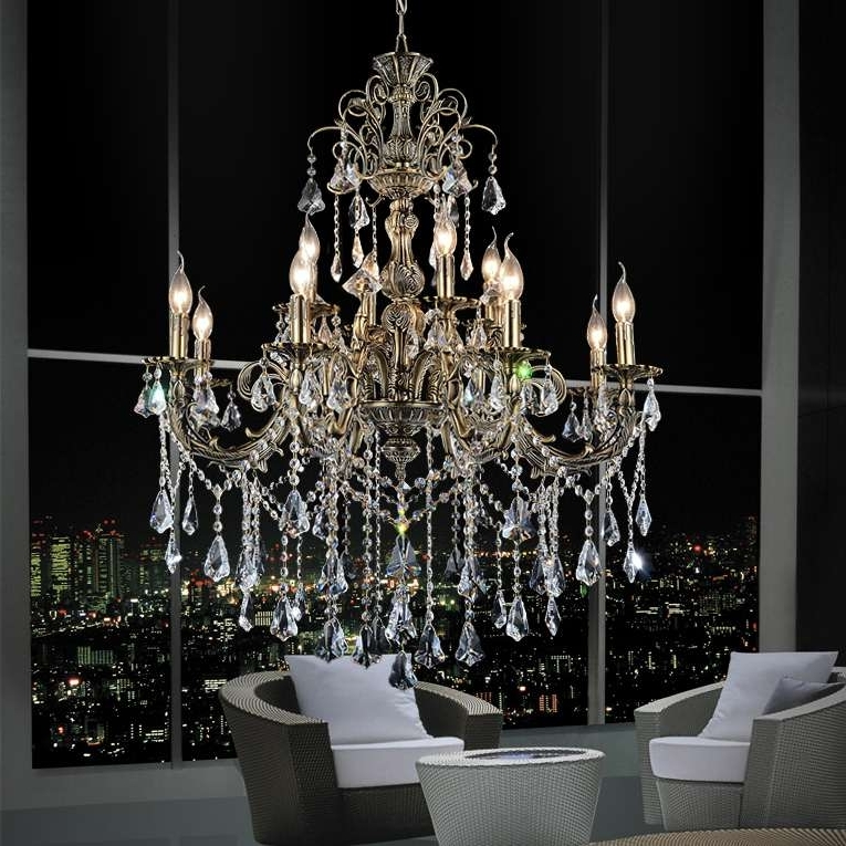 Famous Brass And Crystal Chandelier Regarding Brizzo Lighting Stores (View 3 of 10)