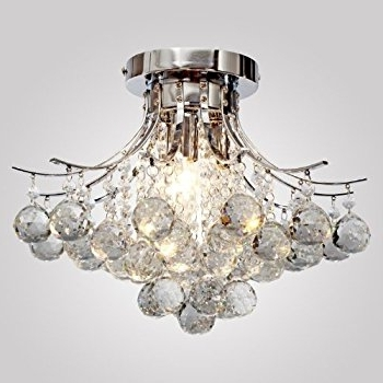 Famous Chrome Crystal Chandelier Within Locoâ Chrome Finish Crystal Chandelier With 3 Lights, Mini Style (View 7 of 10)