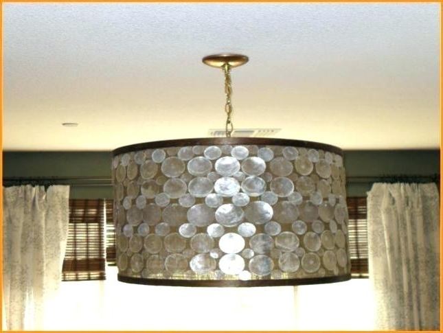 Famous Drum Lamp Shades For Chandeliers Within Burlap Drum Shade Chandelier Burlap Drum Shade Chandelier Lamp (View 5 of 10)