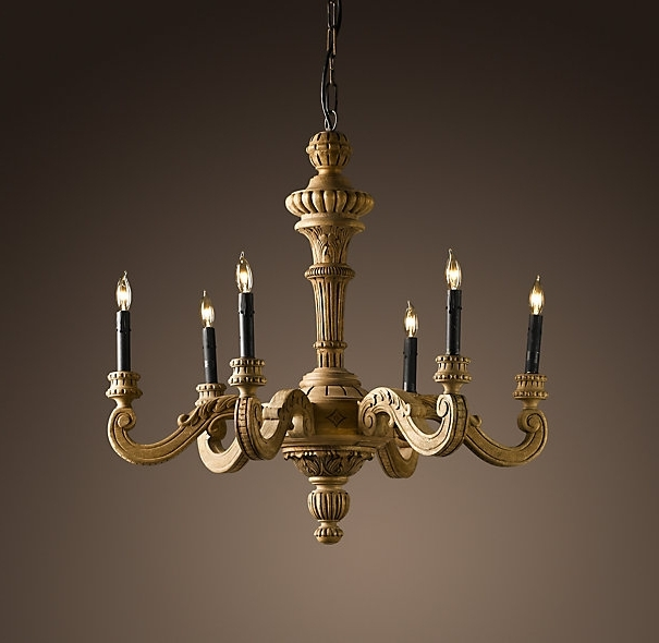 Famous French Wooden Chandelier For If You Don't Mind The Price, This 19th C (View 8 of 10)