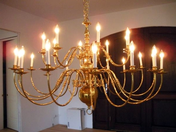 Famous Giant Brass Chandelier – Little Green Notebook In Large Brass Chandelier (View 2 of 10)