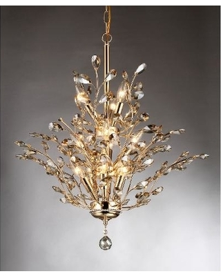 Famous Gold And Crystal Chandelier – Visionexchange (View 6 of 10)