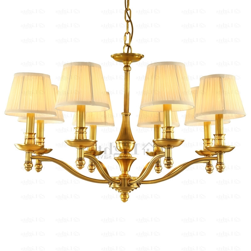 Famous High End 8 Light Large Brass Chandelier For Dinning Room In Large Brass Chandelier (View 3 of 10)
