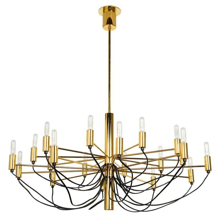 Famous Italian Chandelier Style Of Gino Sarfatti (View 2 of 10)