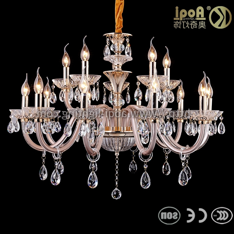 Famous Simple Glass Chandelier Within China European Simple Glass Chandelier Lighting – China Chandelier (View 4 of 10)