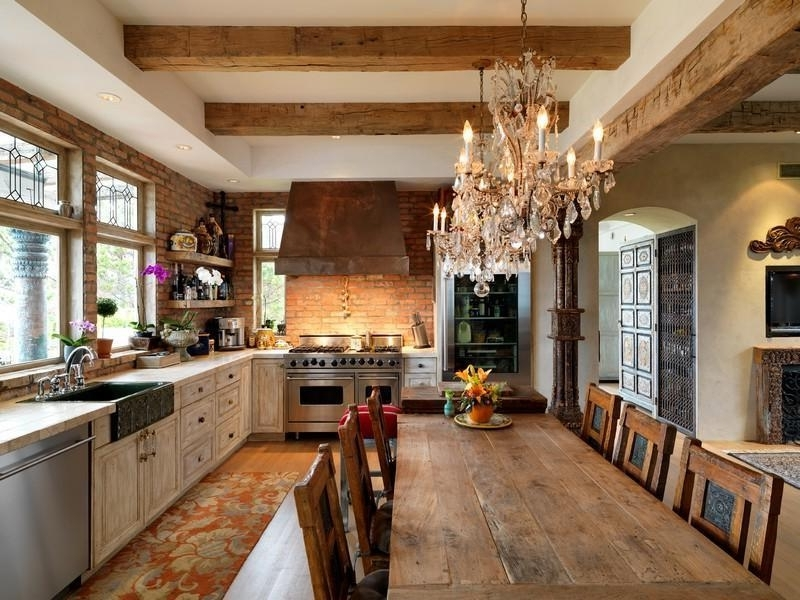 Famous Small Rustic Kitchen Chandeliers In Rustic Kitchen Chandelier Good Furniture Pertaining To Attractive (View 4 of 10)