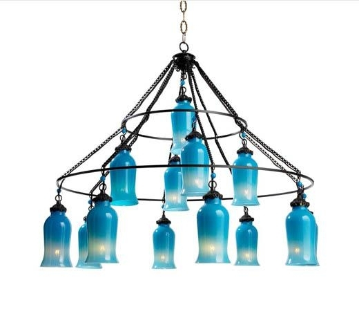 Famous Turquoise Blue Glass Chandeliers In Glass Chandelier I Tonic Home (View 5 of 10)