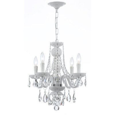 Fashionable 4 Light Crystal Chandeliers Throughout Buy Envogue 4 Light Crystal Chandelier Crystal Grade: Spectra (View 5 of 10)